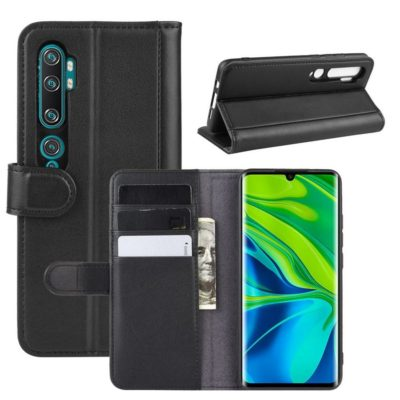 Xiaomi Mi Note 10 Nahkakotelo Musta