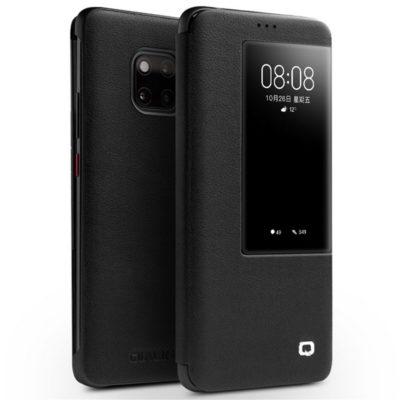 Huawei Mate 20 Pro Nahkakotelo Qialino Musta