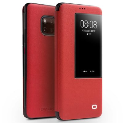 Huawei Mate 20 Pro Nahkakotelo Qialino Punainen