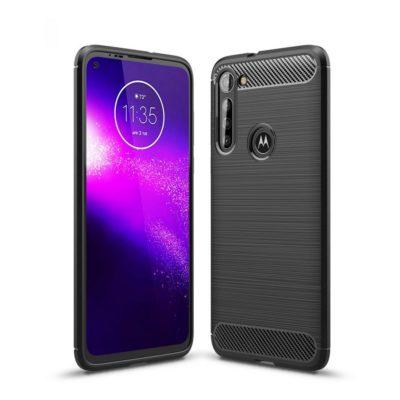 Motorola Moto G8 Power Suojakuori Hiilikuitu Musta