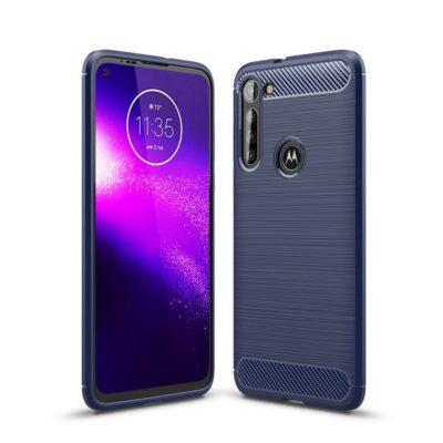 Motorola Moto G8 Power Suojakuori Hiilikuitu Sininen