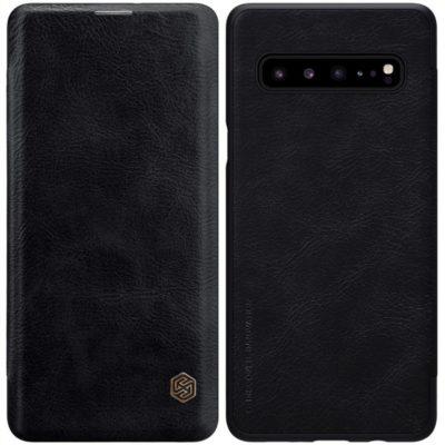 Samsung Galaxy S10 5G Kotelo Nillkin Qin Musta