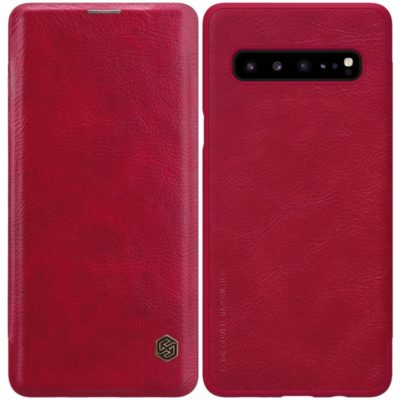 Samsung Galaxy S10 5G Kotelo Nillkin Qin Punainen