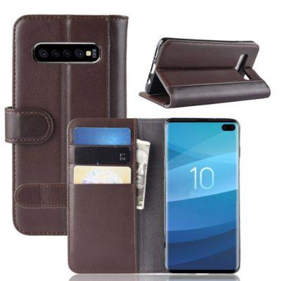 Samsung Galaxy S10 5G Nahkakotelo Tummanruskea