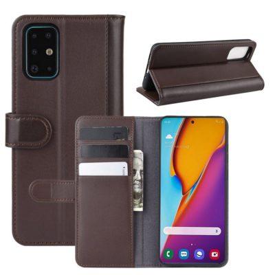 Samsung Galaxy S20+ 5G Nahkakotelo Ruskea