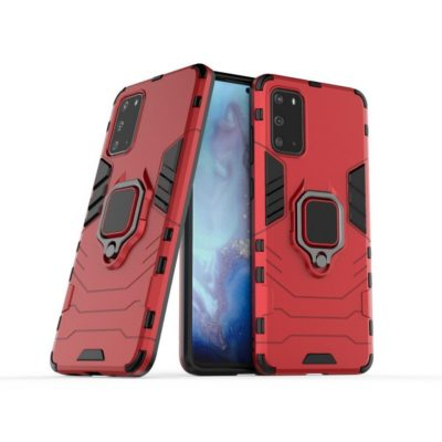Samsung Galaxy S20+ 5G Sormus Suojakuori Punainen