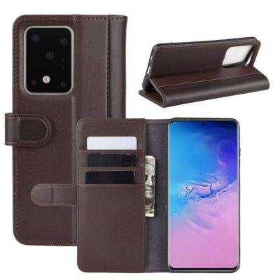 Samsung Galaxy S20 Ultra 5G Kotelo Ruskea Nahka