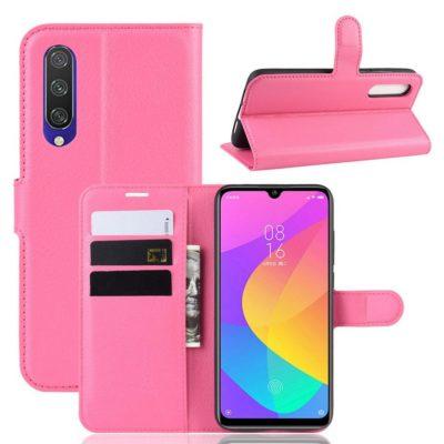 Xiaomi Mi A3 Kotelo Pinkki Lompakko