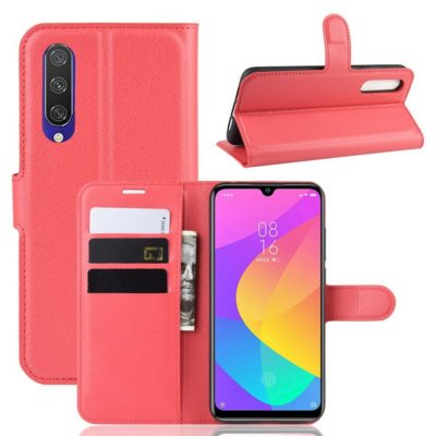Xiaomi Mi A3 Kotelo Punainen Lompakko