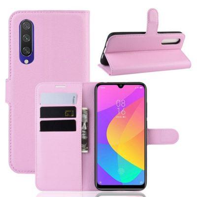 Xiaomi Mi A3 Kotelo Vaaleanpunainen Lompakko