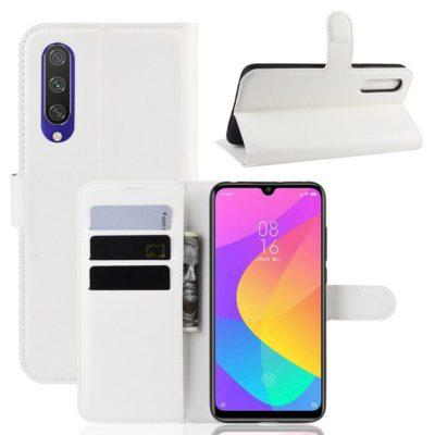Xiaomi Mi A3 Kotelo Valkoinen Lompakko