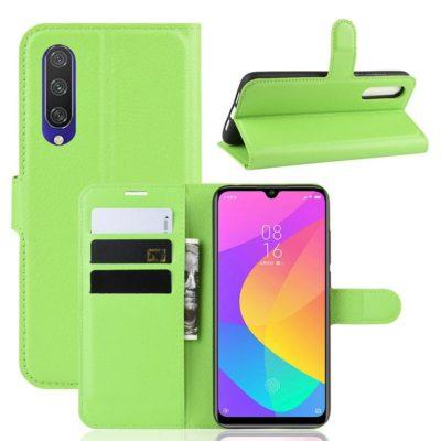 Xiaomi Mi A3 Kotelo Vihreä Lompakko