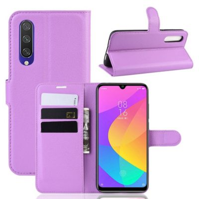 Xiaomi Mi A3 Kotelo Violetti Lompakko