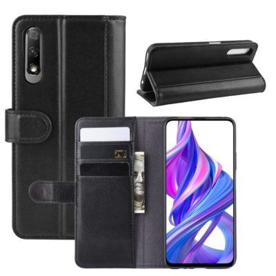 Huawei P Smart Pro Suojakotelo Musta Nahka