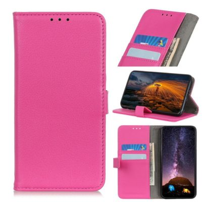 Huawei P40 Lite E Kotelo Pinkki Lompakko