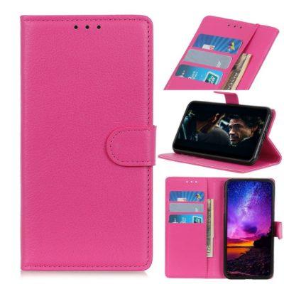 Huawei P40 Lite E Kotelo PU-Nahka Pinkki
