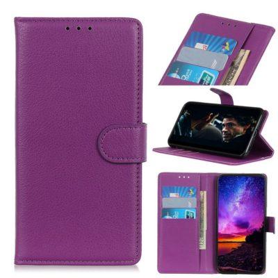 Huawei P40 Lite E Kotelo PU-Nahka Violetti