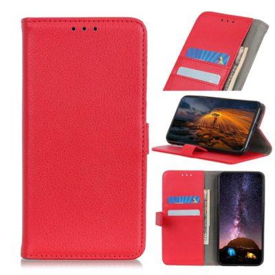 Huawei P40 Lite E Kotelo Punainen Lompakko