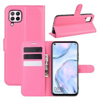 Huawei P40 Lite Suojakotelo Pinkki Lompakko