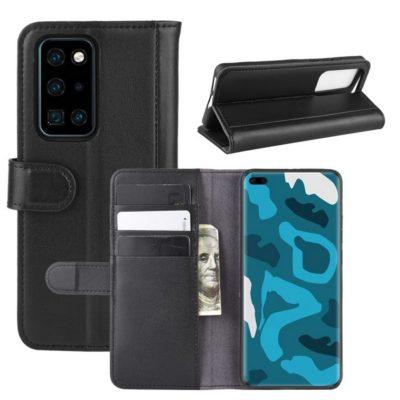 Huawei P40 Pro Nahkakotelo Musta Lompakko