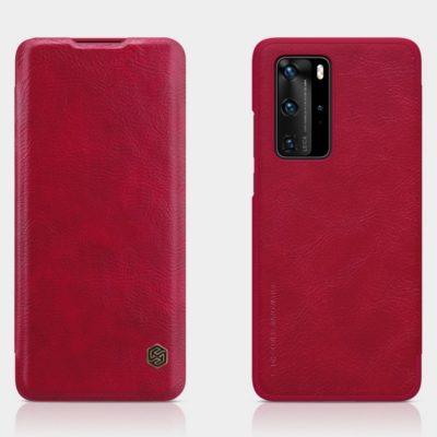 Huawei P40 Pro Suojakotelo Nillkin Qin Punainen