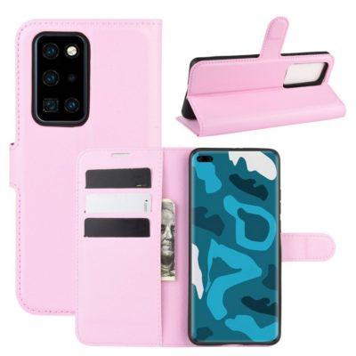 Huawei P40 Pro Suojakotelo PU-Nahka Vaaleanpunainen