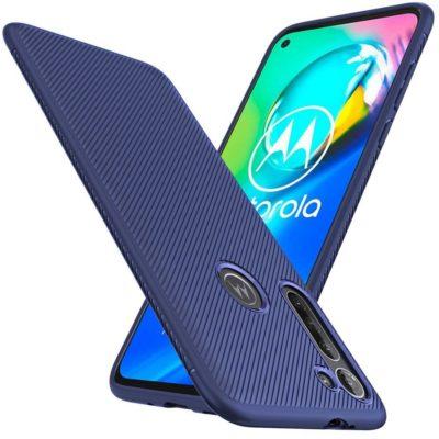 Motorola Moto G8 Power Suojakuori Silikoni Sininen