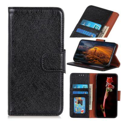 Samsung Galaxy S10 Lite Nahkakotelo Musta