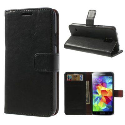 Samsung Galaxy S5 Kotelo Musta Lompakko