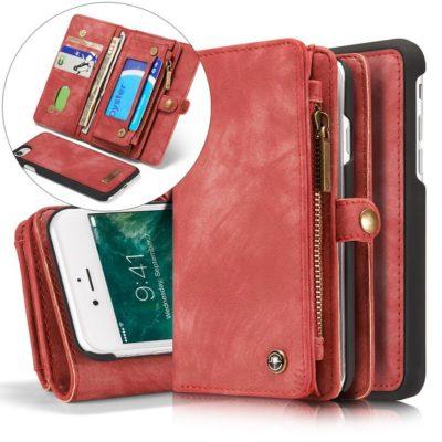Apple iPhone 7 / 8 / SE (2020) Lompakko CASEME Punainen