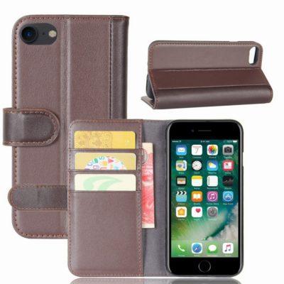 Apple iPhone 7 / 8 / SE (2020) Nahkakotelo Ruskea