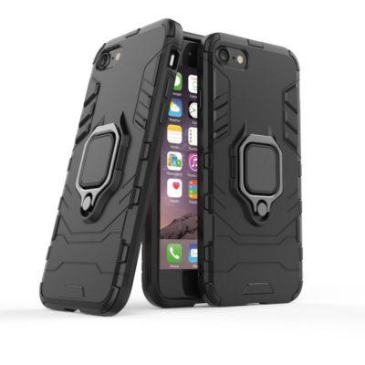 Apple iPhone 7 / 8 / SE (2020) Sormuskuori Musta
