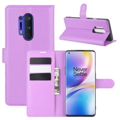 OnePlus 8 Pro Kotelo PU-Nahka Violetti