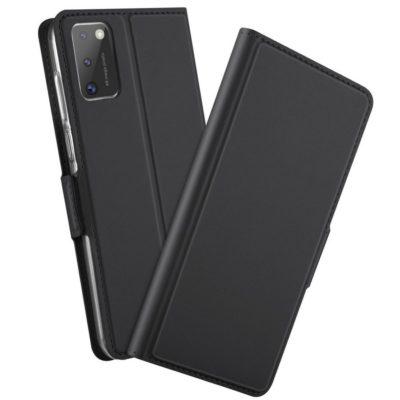 Samsung Galaxy A41 Kannellinen Kotelo Musta