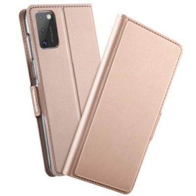 Samsung Galaxy A41 Kannellinen Kotelo Ruusukulta
