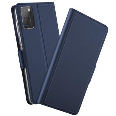 Samsung Galaxy A41 Kannellinen Kotelo Sininen