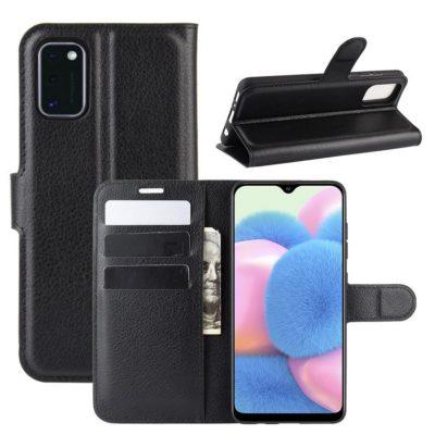 Samsung Galaxy A41 Suojakotelo PU-Nahka Musta