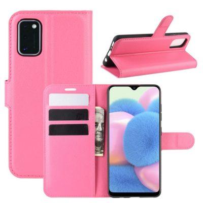 Samsung Galaxy A41 Suojakotelo PU-Nahka Pinkki