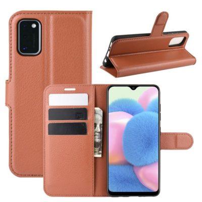 Samsung Galaxy A41 Suojakotelo PU-Nahka Ruskea