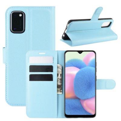 Samsung Galaxy A41 Suojakotelo PU-Nahka Sininen