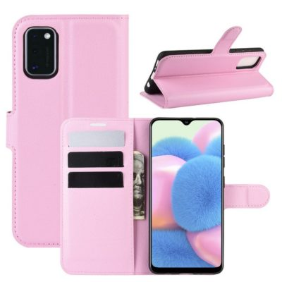 Samsung Galaxy A41 Suojakotelo PU-Nahka Vaaleanpunainen