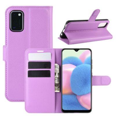 Samsung Galaxy A41 Suojakotelo PU-Nahka Violetti
