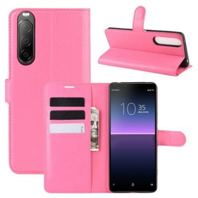 Sony Xperia 10 II Kotelo PU-Nahka Pinkki