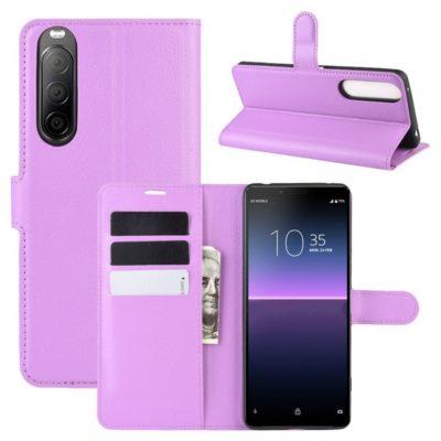 Sony Xperia 10 II Kotelo PU-Nahka Violetti
