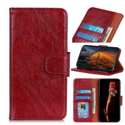 Sony Xperia 10 II Suojakotelo Punainen Nahka