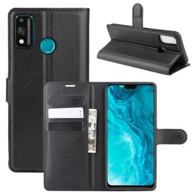 Huawei Honor 9X Lite Kotelo PU-Nahka Musta