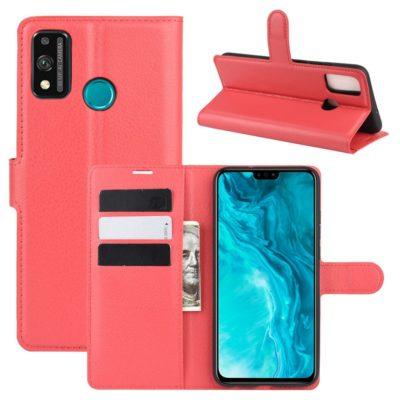 Huawei Honor 9X Lite Kotelo PU-Nahka Punainen
