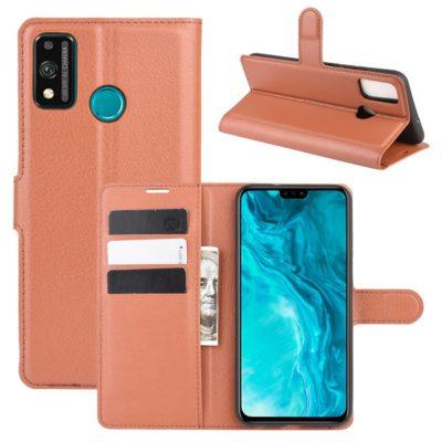 Huawei Honor 9X Lite Kotelo PU-Nahka Ruskea