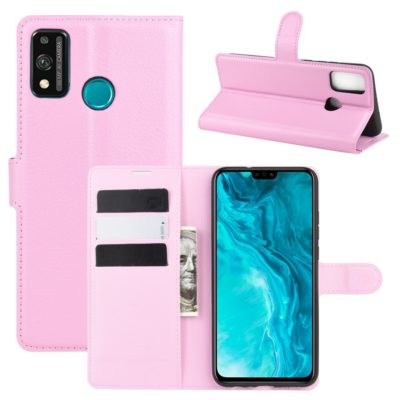 Huawei Honor 9X Lite Kotelo PU-Nahka Vaaleanpunainen