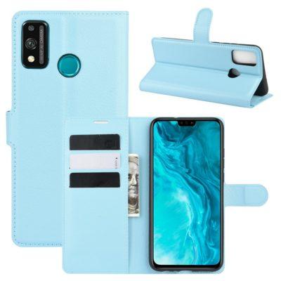 Huawei Honor 9X Lite Kotelo PU-Nahka Vaaleansininen